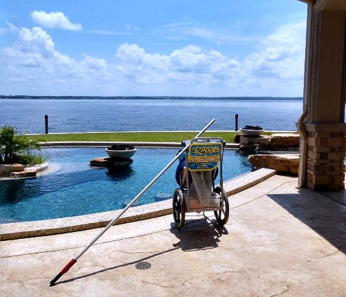 Pool Cleaning at Lake Conroe, TX